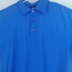 FOOTJOY FJ Men's Blue Short Sleeve Polo Golf Shirt